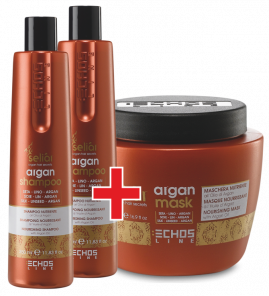 echosline argan sampon 350 ml 2x + zdarma argan maska 500ml