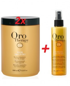 fanola ORO therapy-maska-1000ml 2x + bi-phase kondicioner